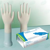 Quality Clear AQL4.0 And AQL 1.5 , 4mil Vinyl Exam Gloves Beaded Cuff Powdered wholesale
