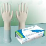 Quality Custom 4mil transparent blue , sterile non , medical and powder free vinyl exam gloves wholesale