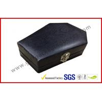 Quality Wood Grain Jewellery Showing Gift Packaging Boxes , Black Rigid Paper Rings Packaging Boxes wholesale