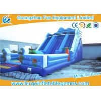 Quality Blue Marine Theme Commercial Inflatable Slide / Giant Inflatable Dry Slide wholesale