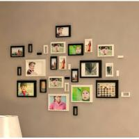 Quality 3D wall stickers home decor background stickers wooden decoration stickers photo frame home decoration wholesale