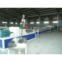 Quality Hollow and Solid Plastic Profile Extrusion Line , PP / PE Handrail Profile Production Line wholesale