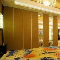 China Movable Ceiling Track Sliding Folding Soundproof Wood Partition Door For Banquet Hall on sale