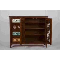 Cheap 3 Adjustable Shelves Home Wood Furniture Cabinet With 4 Pattern Storage Drawers for sale