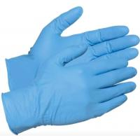 China Blue Latex Free Disposable Nitrile Gloves , High Stretch Nitrile Examination Gloves on sale
