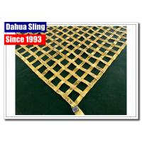 Quality Yellow Cargo Carrier Net , Cargo Lifting Nets For Construction Safety Protection wholesale