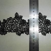 Buy cheap Black Water Soluble Embroidery Applique for Wedding Bridal Dress from wholesalers