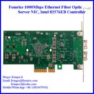 Quality Femrice 1G Dual Port Fiber Optic Server Network Card, PCI Express x4 Network Adapter wholesale