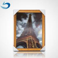 Quality Custom Printing 3D Lenticular Poster PET Image High Definition Eiffel Tower Poster wholesale