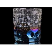 Quality Debossed Iridescent Glass Candle Holders For Wedding Home Decoration wholesale