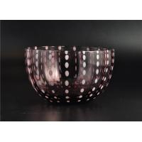 Quality Home Decor Coloured Glass Candle Holders , Glass Jars For Candles wholesale