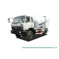 Quality Industrial 4x2 / 4x4 Mobile Concrete Agitator Truck 6 Cbm With 3 Seater wholesale