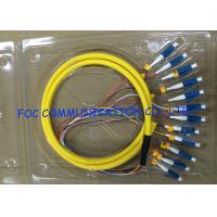 Quality Distribution Optical Fiber Pigtail LC UPC 12Cores Flame Retardant Low Attenuation wholesale