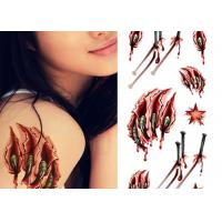 Quality OEM Service Real Looking Fake Body Tattoo Stickers For Adults / Children wholesale