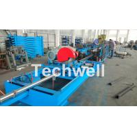 Quality Step Beam Rack Roll Forming Machine With Welding Line , Servo Flying Saw Cutting Device wholesale