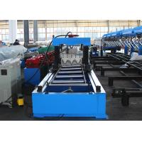 Quality Fully Automatic Highway Guardrail Roll Forming Machine With Servo Flying Cutoff wholesale