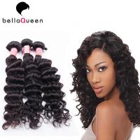 China Beauty Works Natural Black Deep Wave Hair Extension For Women on sale