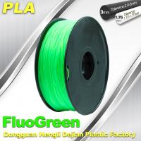 Quality 1.75 / 3mm PLA Fluo - Green Fluorescent  Filament for RepRap , Cubify wholesale