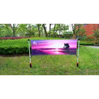 Quality Advertising Outdoor Banner Stands With Spike / Twist Custom Width Height wholesale