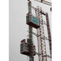 Quality Double Cabin Cage Hoists Material Lifting Equipment for Civil Architecture wholesale