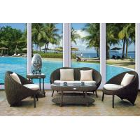 Cheap Dark Coffee Plastic Rattan Outdoor Sofa Set Garden