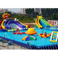 Quality PVC Tarpaulin Large Inflatable Water ParkWaterproof Anti - Corrosion For The Water Play wholesale