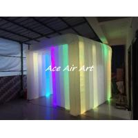 Quality 2017 led inflatable cube tent portable inflatable photo booth cabin for advertising wholesale