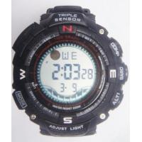 Quality Triple Sensor Casio Style Multifunction Digital Watch Dive 30m Depth PU Band wholesale