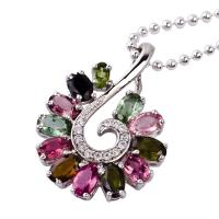 Quality Fashion design and shiny crystal silver gemstone pendant K-BC-C773 with low price wholesale