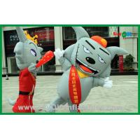 China Moving Inflatable Gray Wolf Inflatable Cartoon Characters For Advertising on sale