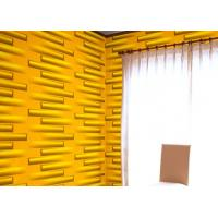 Cheap Removable Decorative Wall Panel 3D Wallpapers For Home Wall Decor Green / Yellow / White for sale
