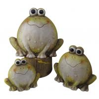 Quality Frogs Animal Garden Ornaments , Outdoor Animal Statues For Backyard wholesale