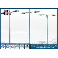 China Hot Dip Galvanized Outdoor Street Lamp Post , Low Voltage Lamp Post on sale