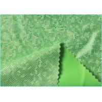 Quality Bright Green 4 Way Stretch Mystique Hologram Spandex Fabric with 96% Polyester 4% Spandex wholesale
