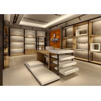 Quality Handbag Showroom Display Cases White Wooden Plus Veneer Stainless Steel Material wholesale