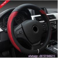 Quality Colorful black grey beige red Amaon hot sell car steering wheel cover from China supplier wholesale
