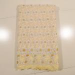Quality Beautiful Cream Organza Lace Fabric , Wedding Dress wholesale