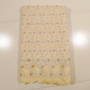 Beautiful Cream Organza Lace Fabric , Wedding Dress