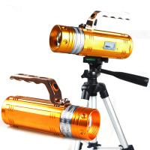 Quality Led Display 10W Rotating Zoom Yellow&Blue&White Night Fishing Led Lamp Flashlight/Torch wholesale