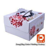 Quality Corrugated Paper Decorative Cake Packaging Boxes White With Handle wholesale