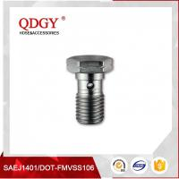 Quality STAINLESS STEEL MATERIAL BRAKE HOSE FITTINGS SINGLE BANJO BOLT M10 X 1.25 wholesale