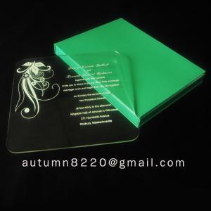Cheap beautiful acrylic invitation for sale