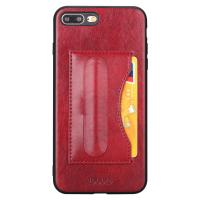 Quality Ultra Thin Red Iphone 7plus 8plus Smartphone Back Cover Id Card Slot Support Holder wholesale