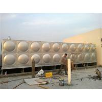 Quality SS Rectangular Sectional Water Tanks For Hot / Cold Water Storage wholesale
