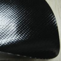 China 0.5mm Glossy Black Anti-Scratch PVC Coated Fabric for Bags on sale