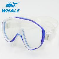 China Flexible Silicone Adult Snorkel Mask / Low Volume Dive Mask For Swimming And Diving on sale