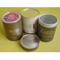 Quality Complicated Food Grade Paper Tin Can / Tube Containers with Metal Bottom and Cap, PE Cap wholesale