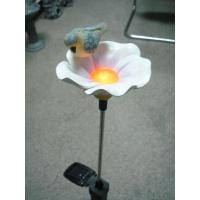 Quality Epoxy Resin Crafts  garden thermometer decorative  Flower Light with Bird wholesale