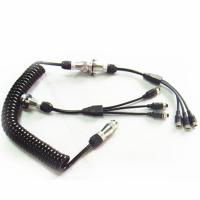Quality Curly 7 Pin Trailer Cable Spiral Power Cable For Camera Kits wholesale