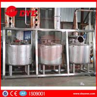 Quality Steam Hearting Red Copper Commercial Distillation Equipment Distilling Vodka Alcohol Wine wholesale